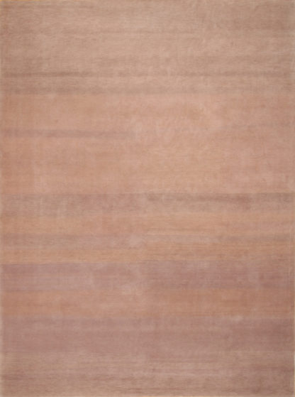 Hand Knotted Wool Tibetan 9'x12' Brown Area Rug