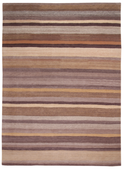 Hand Knotted Wool Tibetan 9'x12' Earth Tones Area Rug