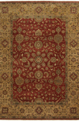 Hand Knotted Jaipur Tabriz Design 9'x12' Wool Area Rug