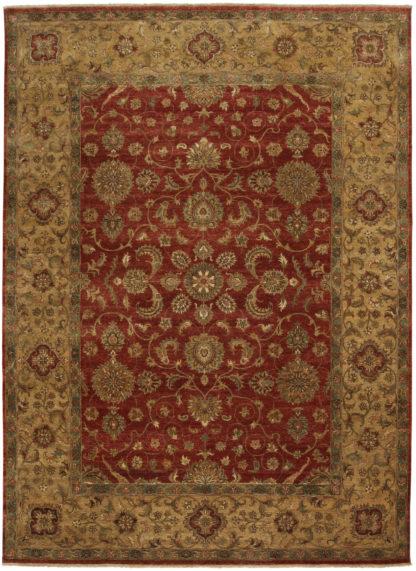Hand Knotted Jaipur Tabriz Design 9'x12' Wool Area Rug