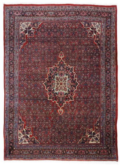 Antique Persian Bidjar c1920 9'x12' Red Blue Wool Area Rug
