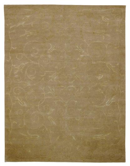 Wool & Silk Tibetan 8'x10′ Moss Gold Area Rug