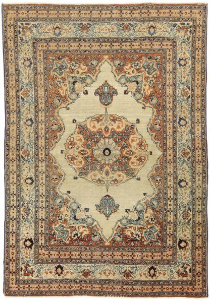 Antique Tabiz Haji Jalili c1875 4'x6' Wool Area Rug