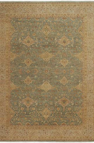 Tabriz Design India 9'x12' Wool Area Rug