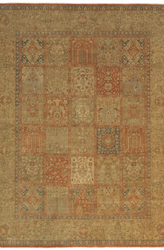 Tabriz Garden Design India 8' x 10' Wool Area Rug