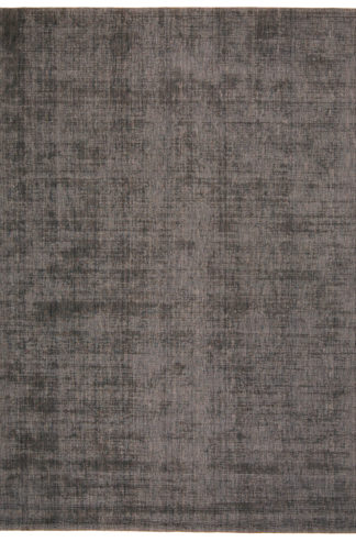 Hand Knotted 8'x10' Charcoal Wool Area Rug