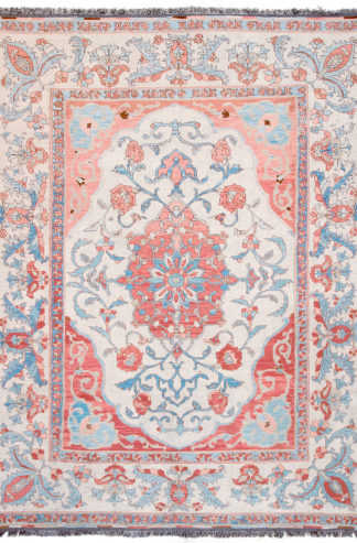 Persian Isfahan 7' x 9 ' Wool Area Rug