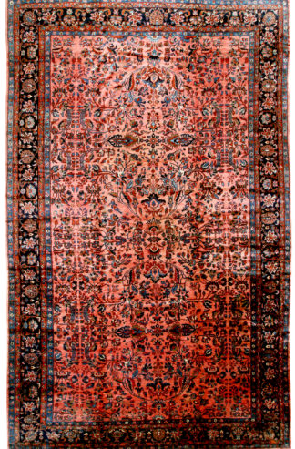 Antique Persian Lilihan c1920 13' x 21' Oversize Wool Area Rug