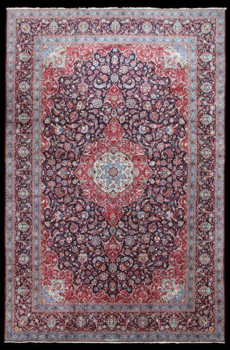 Persian Kashan 11' x 16' Red Blue Area Rug