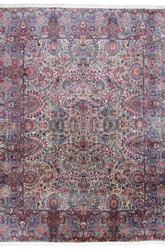 Antique Persian Kerman 13' x 17' Wool Area Rug