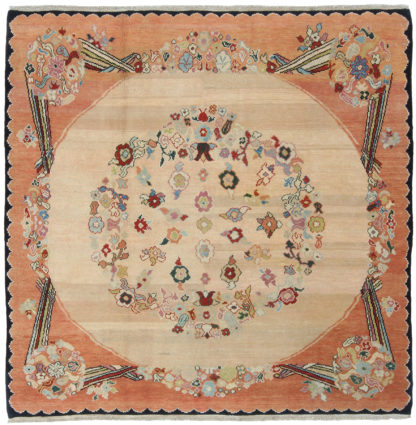 Spanish Design Turkey 7' x 7' Square Wool Area Rug