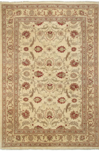 Hand knotted Sultan Abad Design 9' x 12' Red Ivory Area Rug