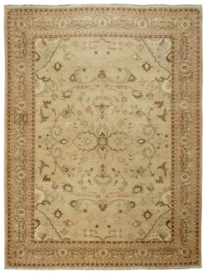 Hand Knotted Agra Design 9′ x 12′ Wool Area Rug