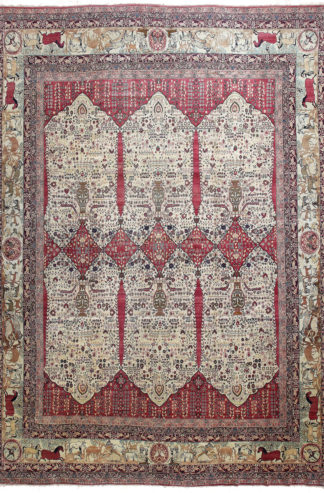 Antique Kerman Ravar c1890 15' x 20' Area Rug