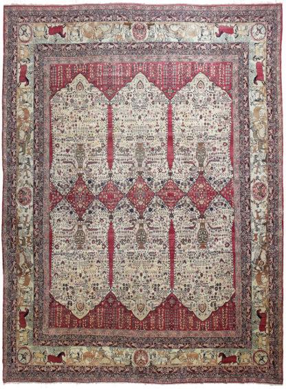 Antique Kerman Ravar c1890 15' x 20' Area Rug