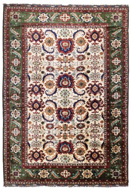 Sultan Abad Design Afghan 12x17 Ivory Green Area Rug