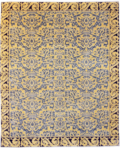 Alcaraz Design Turkey 8x10 Blue Yellow Area Rug