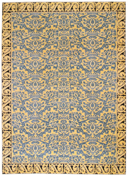 Alcaraz Design Turkey 9x13 Blue Yellow Area Rug