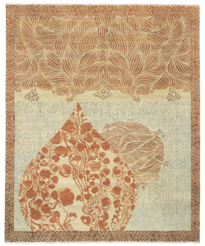 Qubba 8'x10' Hand Knotted Wool Area Rug