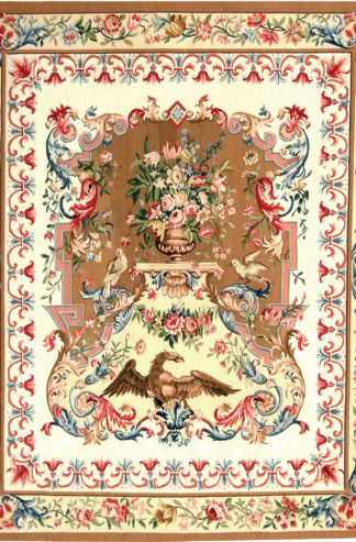 Tapestry Fine 4.5 x 5.5 Ivory Red Green