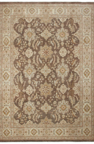 Hand Knotted Chobi 9'x12' Wool Area Rug