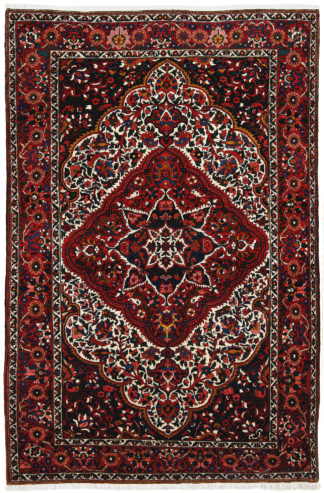 Persian Bakhtiari 6'x10' Red Blue Wool Area Rug