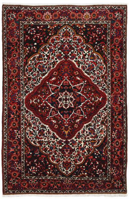 Persian Bakhtiari 6'x10' Red Blue Wool Area Rug