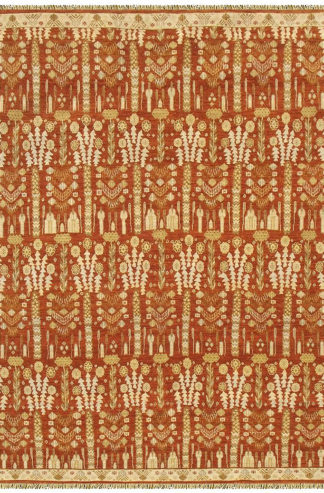 Nuit Arab Transitional 8'x10' Orange Beige Area Rug