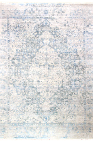 Dazzle Transitional 6'x9' Ivory Slate Blue Area Rug