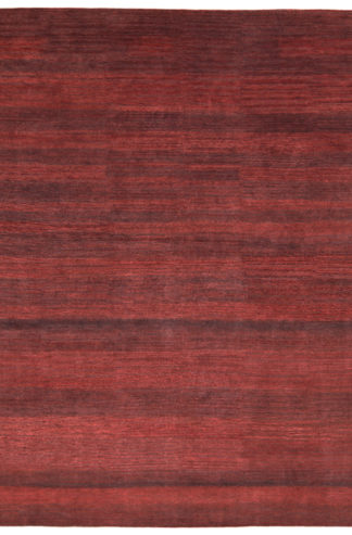 Hand Knotted Wool 8'x10′ Cherry Wood Brown Area Rug