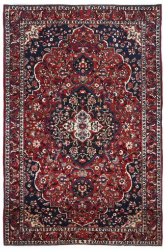 Persian Bakhtiari 6'x9' Red Blue Area Rug