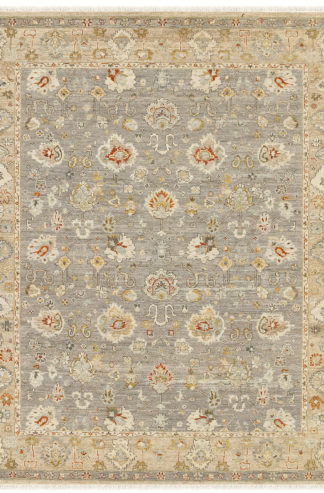 Hand Knotted Wool 8'x10' Beige Grey Area Rug