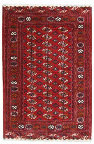 Turkoman Bohkara 5x7 Wool Red Area Rug