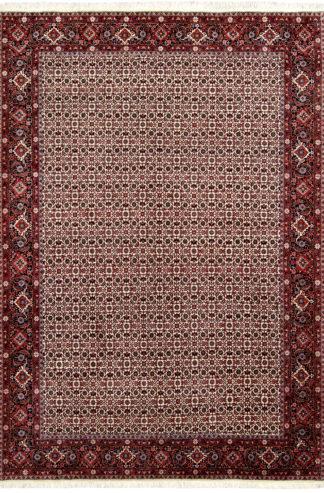 Persian Bidjar Wool 7x10 Red Ivory Area Rug