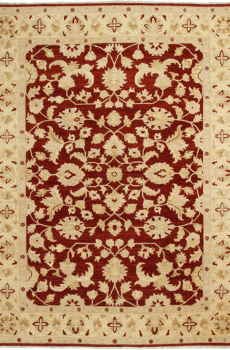 Hand Knotted Chobi 9x12 Beige Red Area Rug