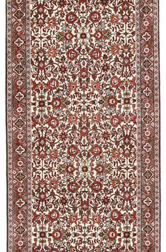 Persian Bidjar Wool Runner 3x10 Ivory Black Red Area Rug