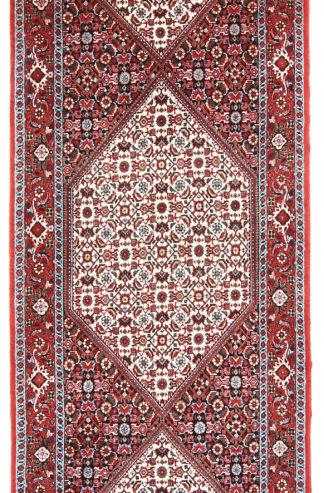 Persian Bidjar Runner 3x10 Red Ivory Area Rug