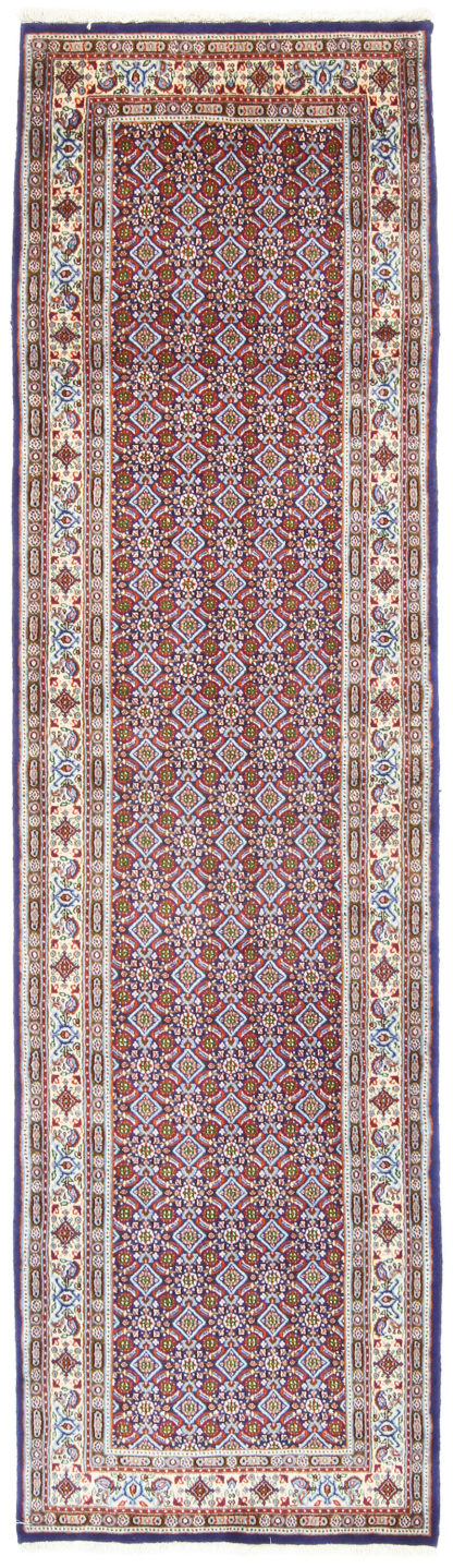 Persian Mood Mashad Runner 3x9 Ivory Blue Red Area Rug