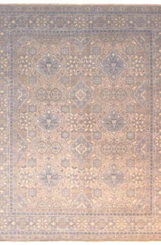 Hand Knotted 8x10 Grey Beige Area Rug