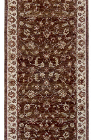 Hand Knotted Jaipur Runner 3x10 Brown Area Rug