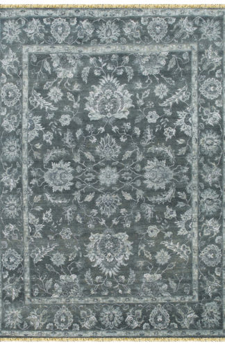 Hand Knotted Wool 8x10 Grey Area Rug