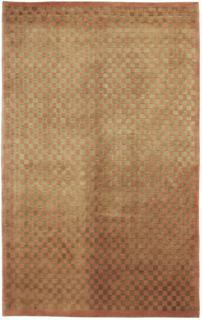 Tibetan Hand Knotted 5x8 Brown Gold Area Rug