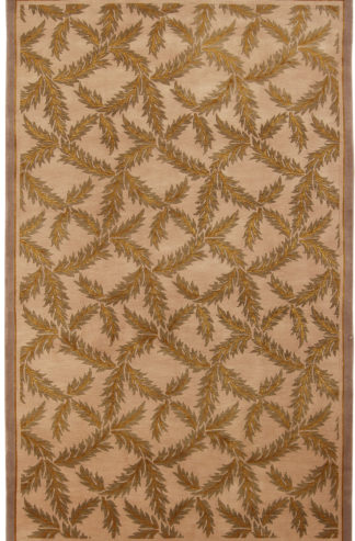 Hand Knotted Lattice Design 5x8 Area Rug
