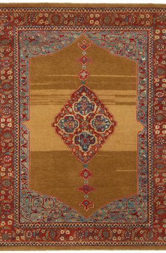 Hand Knotted Turkish Sarab Design 5x8 Area Rug