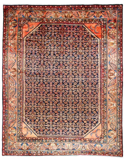 Persian Lilihan Wool 11x13 Rose Blue Area Rug