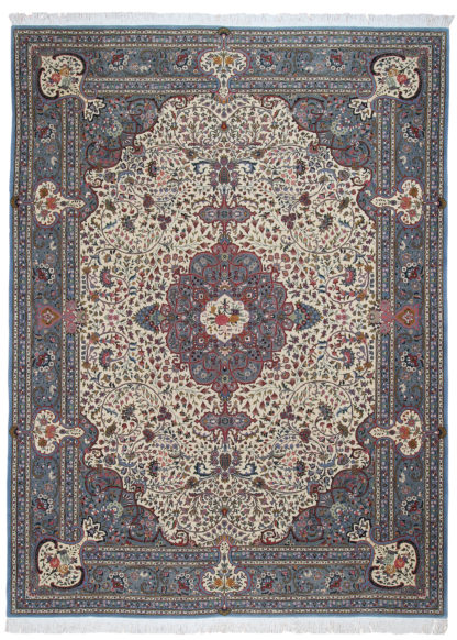 "Hand Knotted Tabriz Design 9'8"" x 13'4"" Area Rug"