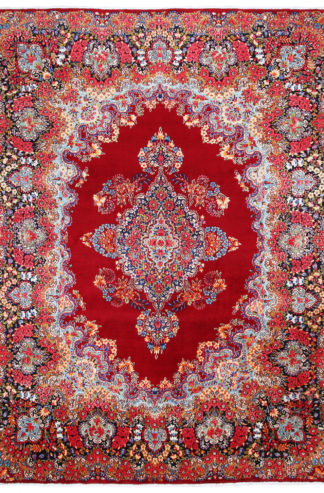 Persian Kerman Wool Red 10x13 Area Rug