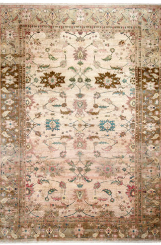 Hand Knotted Agra Design 10′ x 14′ Wool Area Rug