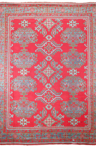 Irish Donegal 10' x 12' Red Wool Area Rug