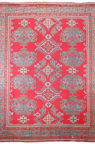 Irish Donegal 10' x 12' Red Wool Area Rug